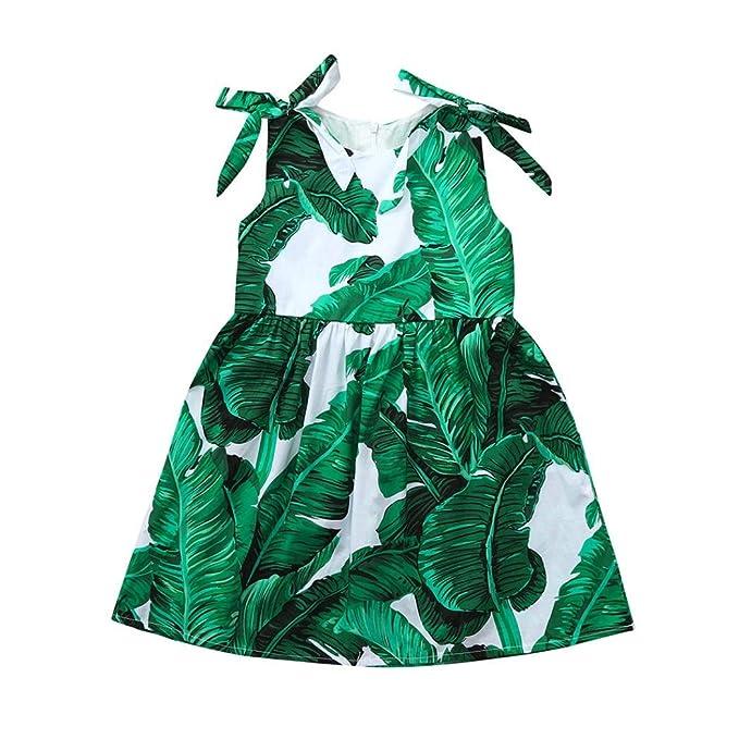 Amazon.com: pollyhb bebé vestidos de niña, bebé verano hoja ...