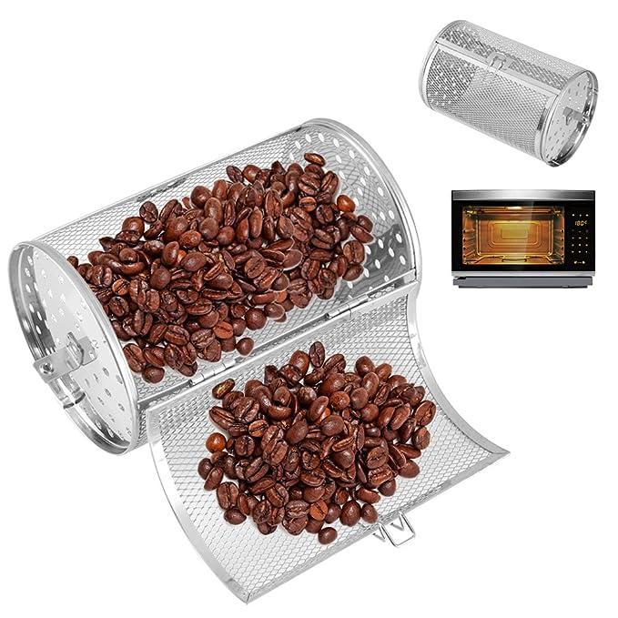Tostador de café Tambor de acero inoxidable Barbacoa ...