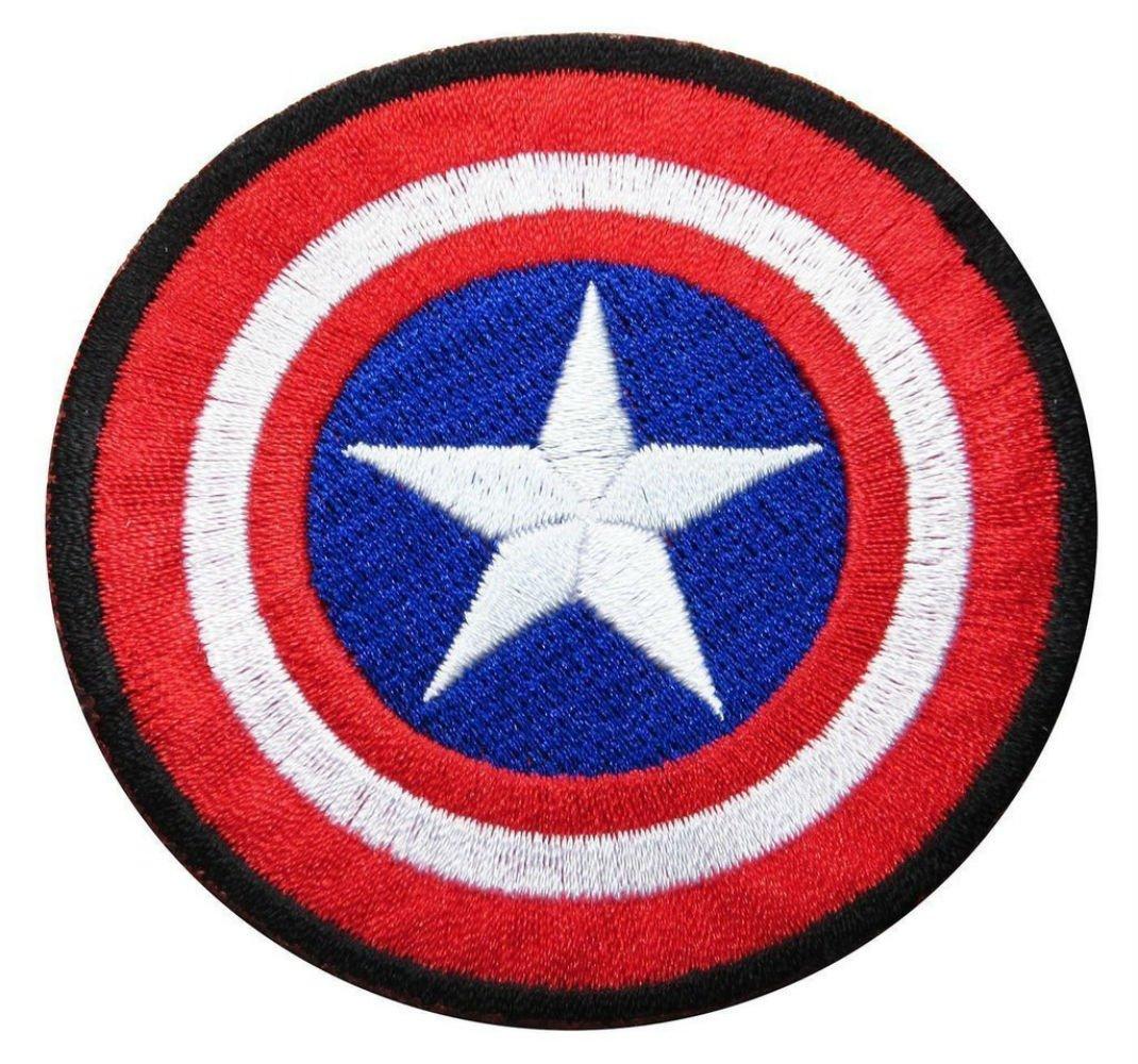 Marvel Captain America Avenger Shield Iron-on Patch 3 InspireMe Family Owned