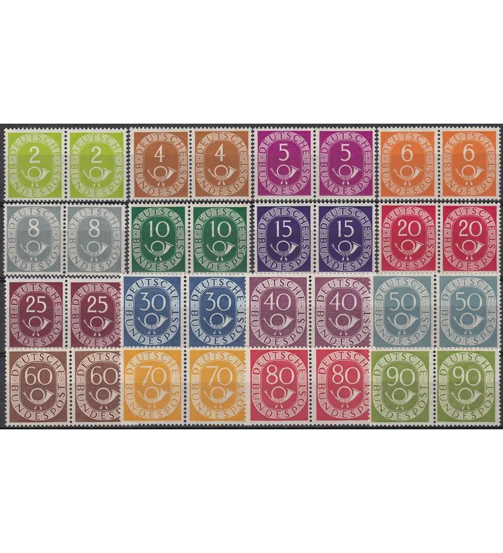 Goldhahn BRD Bund Nr. 123-138 postfrisch  Paarsatz Briefmarken für Sammler