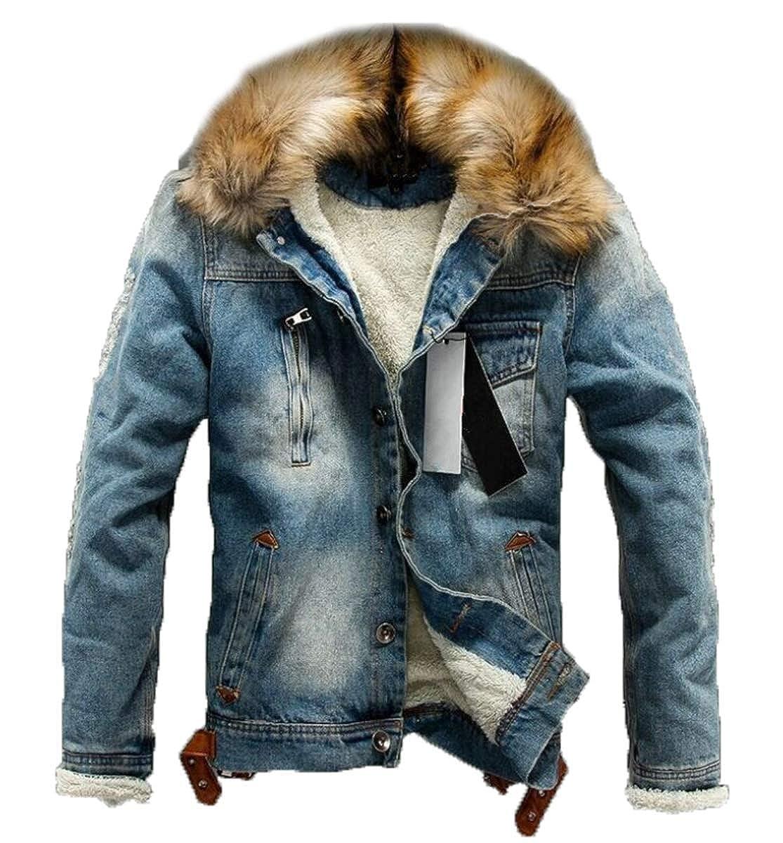 LCXYYY Herren Wintermantel Jeans Jacke Mäntel Denim