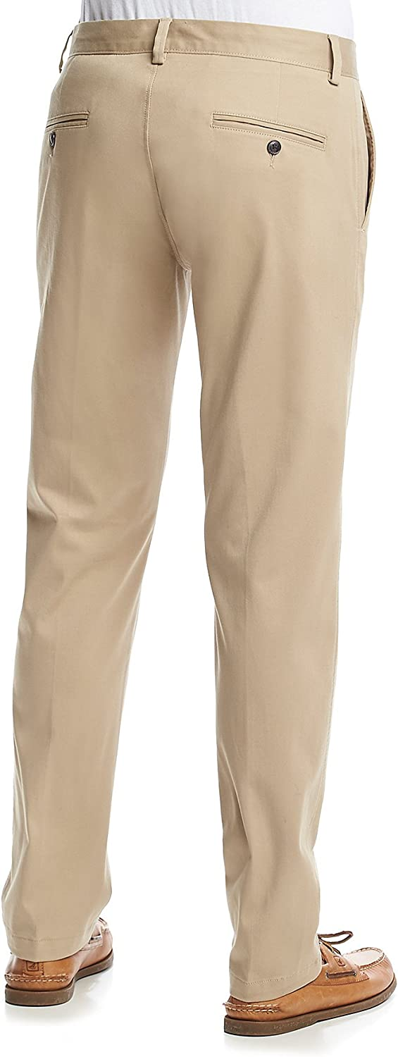 Kenneth Cole Reaction Mens Chino Flat-Front Slim-Fit Casual Pant