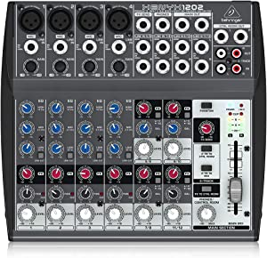 Behringer Xenyx 1202 Premium 12-Input 2-Bus Mixer with XENYX Mic Preamps and British Eqs
