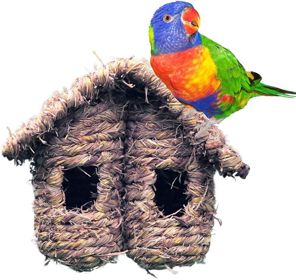 Tutuba Hanging Birdhouses, Grass Bird Nest for Outside, Bird Hut for Cold Weather Outdoor Shelter for Birds