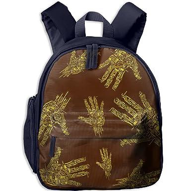 9933f3b70eb4 Circuit Board Kids Girls Lunch Bag Fashion Floral School Backpacks