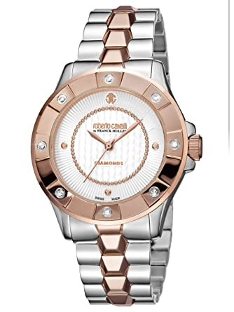 Roberto Cavalli by Frank Muller Diamond Bezel IP Rose Gold Womens 36mm  Watch RV2L008M0146  Amazon.co.uk  Watches b2a264042fd