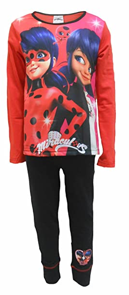 Ladybug - Pijama - para niña rojo Red / Pink / Black / Multicoloured 4-