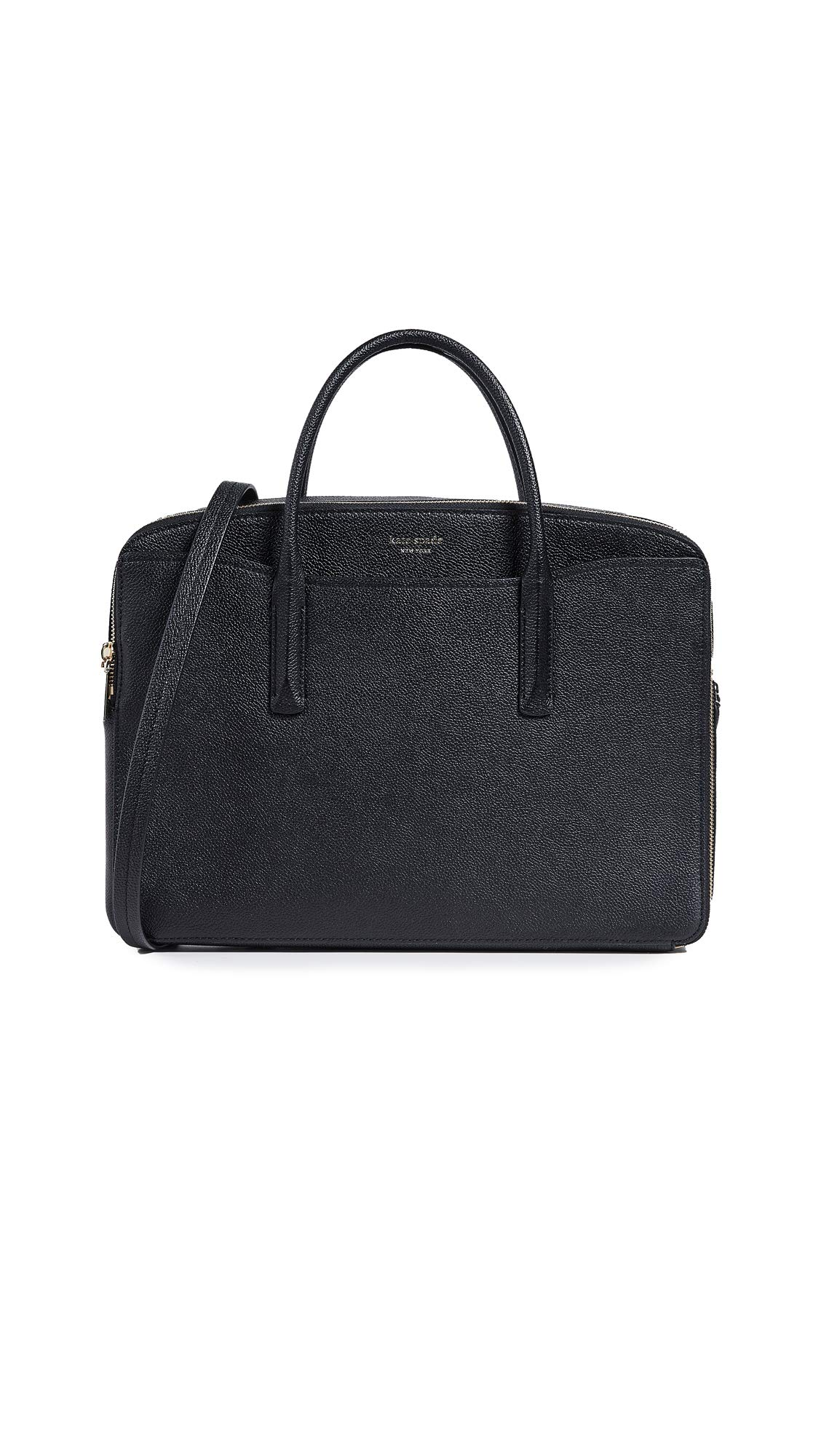 Kate Spade New York Margaux Double Zip Laptop Bag, Black, One Size