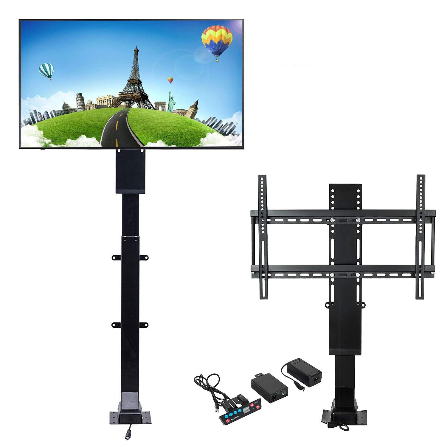 Happybuy Motorized TV Lift Flat TV 1000mm TV Lift Mechanism Auto Lifting Adjustable Height with Wireless RF Remote Controller for Plasma LCD LED TV and Monitors (B) by Happybuy