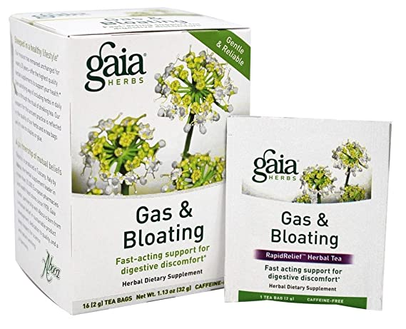 Gaia Herbs, Tea Gas And Bloating, 16 Count