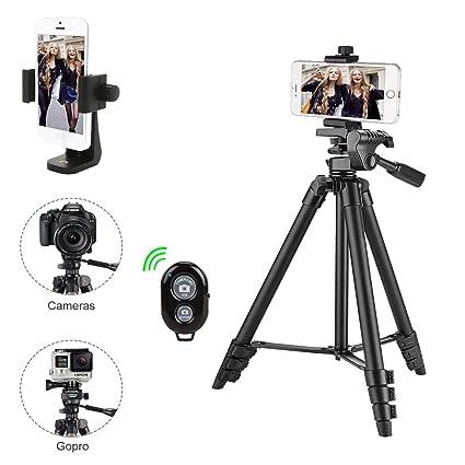 Kamera Stativ, iPhone Stativ, mit Handy HalterungStativ für iPhone Samsung und Kamera Mini Smartphone Stativ …