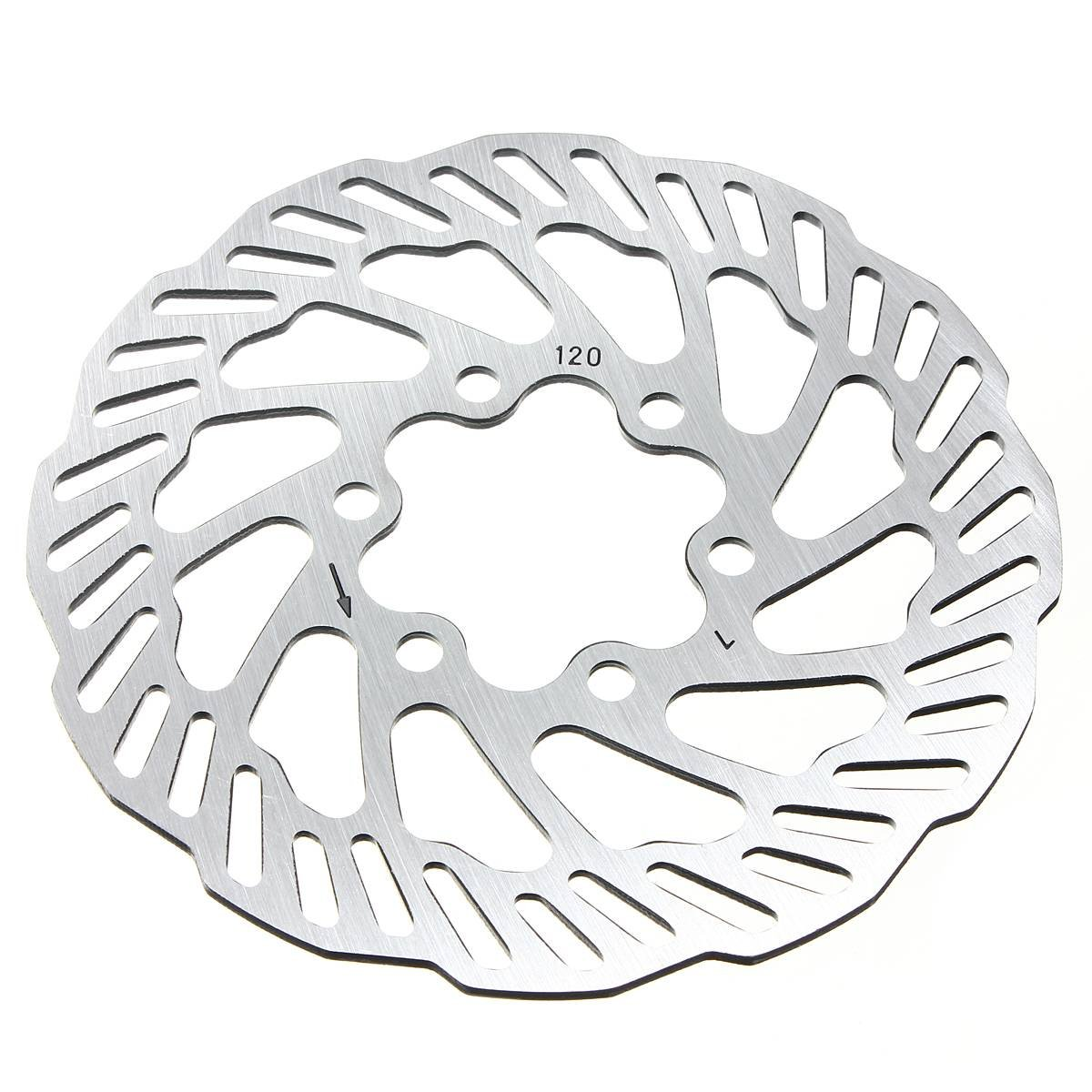OUTERDO Cycling Bicycle Bike Brake Disc Rotors 120mm/140mm/160mm/180mm/203mm With Bolts 120mm by OUTERDO