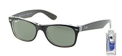 9e3a6e95af Image Unavailable. Image not available for. Color  Ray Ban RB2132 605258  55mm Black Polar New Wayfarer Sunglasses ...