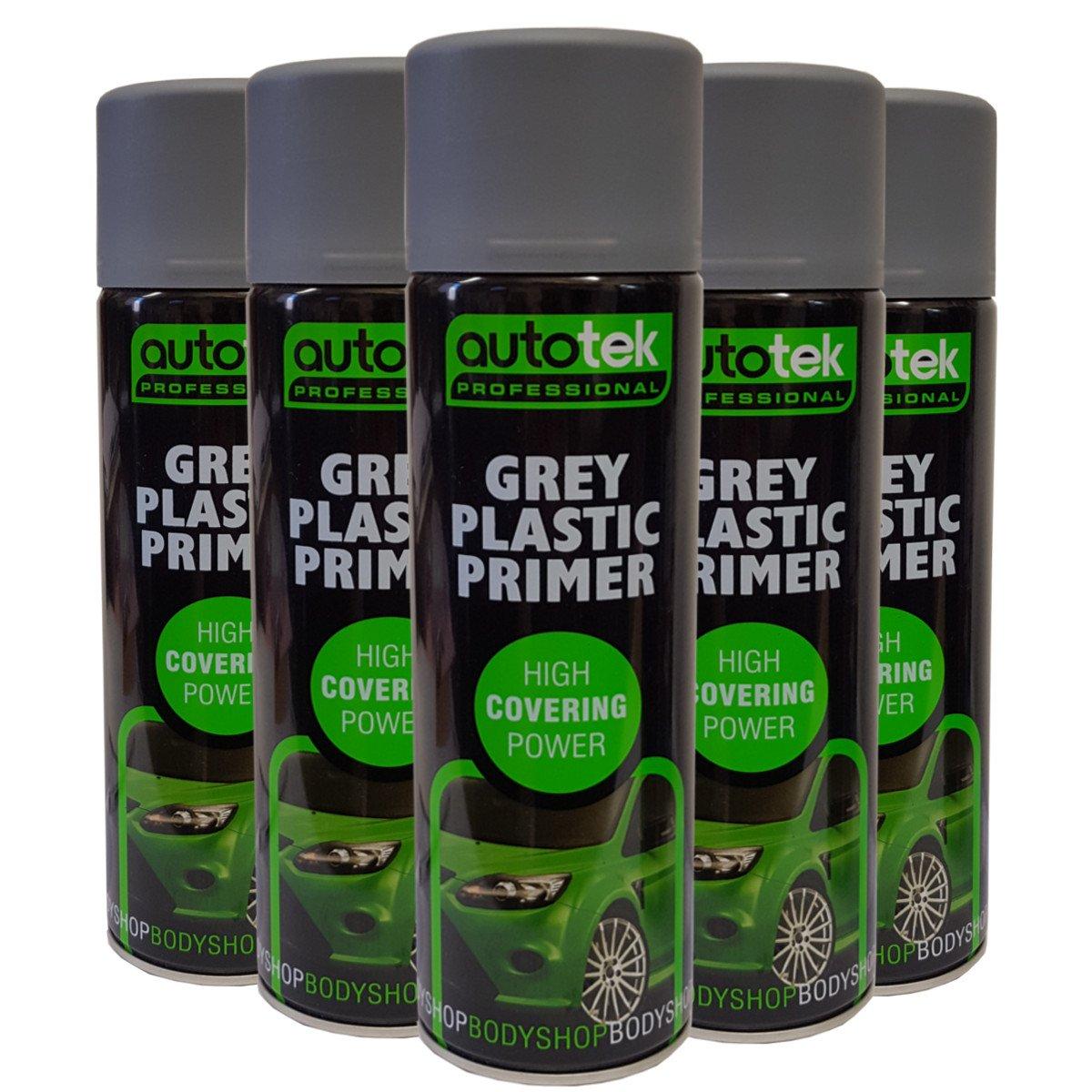 (12 latas) gris plá stico Flexible en spray de imprimació n adherencia para celulosa acrí lico pinturas alquí dicos AUTOTEK