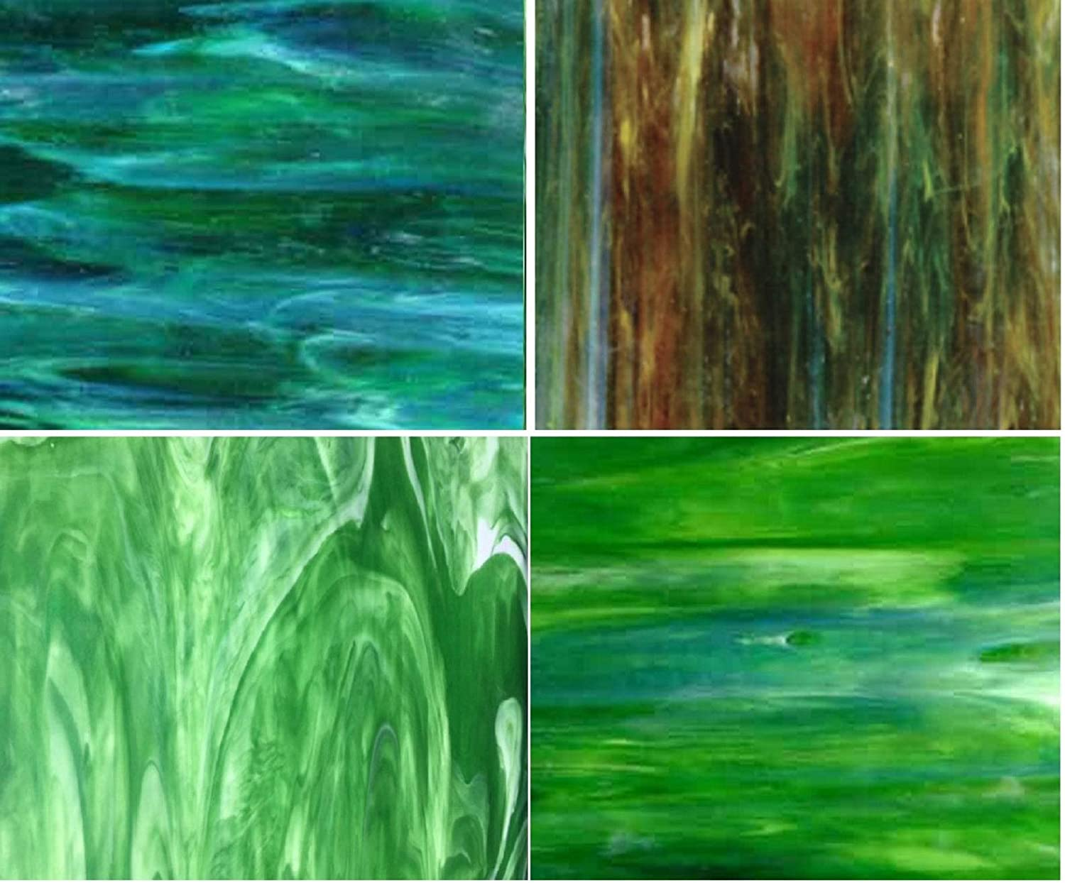 Stained Glass Green Tone Variety Pack 6x8