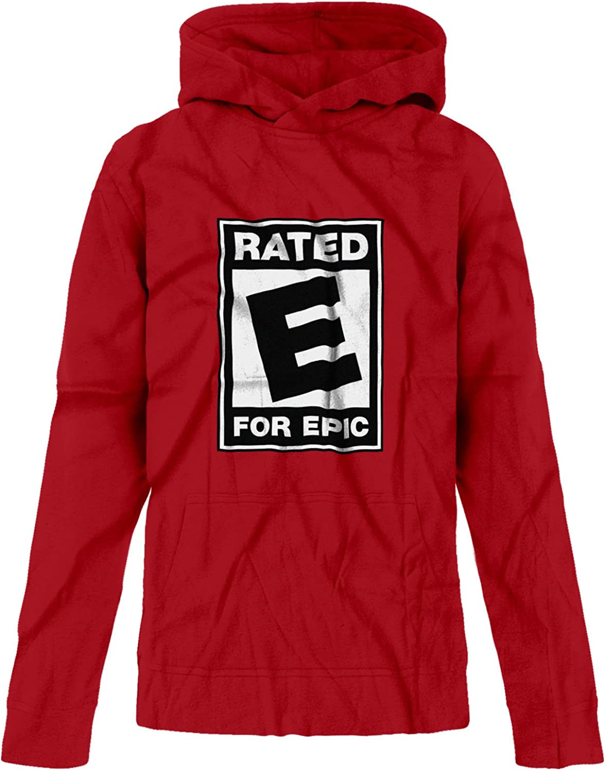BSW Youth Girls Rated E for Epic ESRB Video Entertainment Logo Hoodie