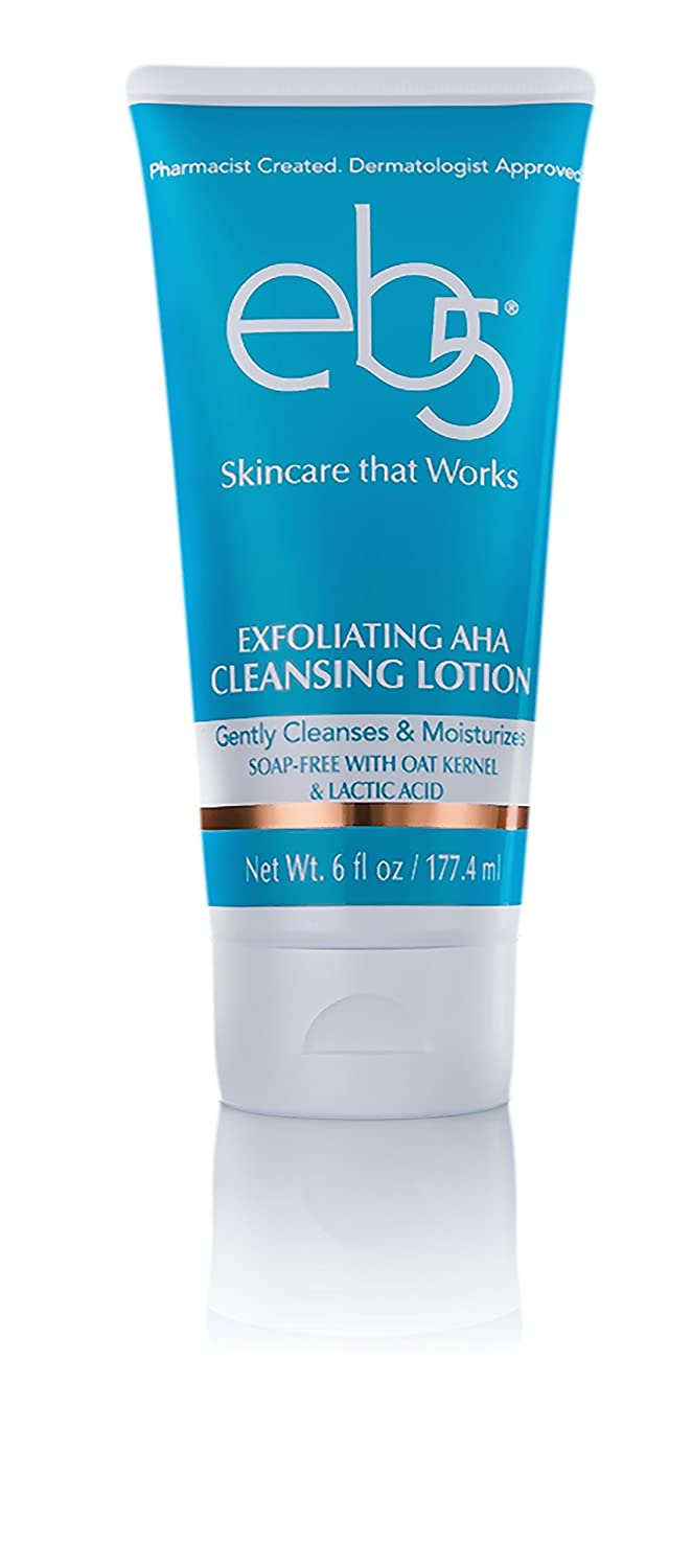 eb5 Exfoliating AHA Cleansing Lotion, Soap-free, Anti-Aging, Glowing Skin, 6 oz