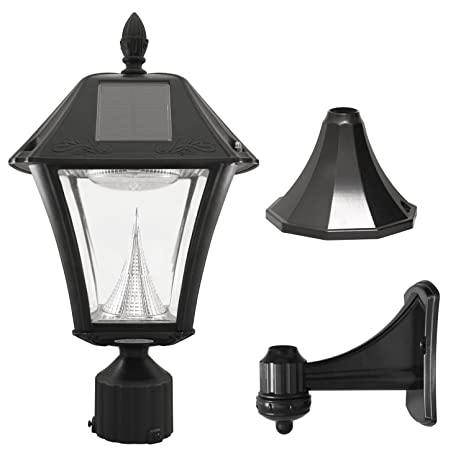 white outdoor light fixtures hanging gama sonic baytown ii solar outdoor lamp with brightwhite leds pole pier amazoncom bright
