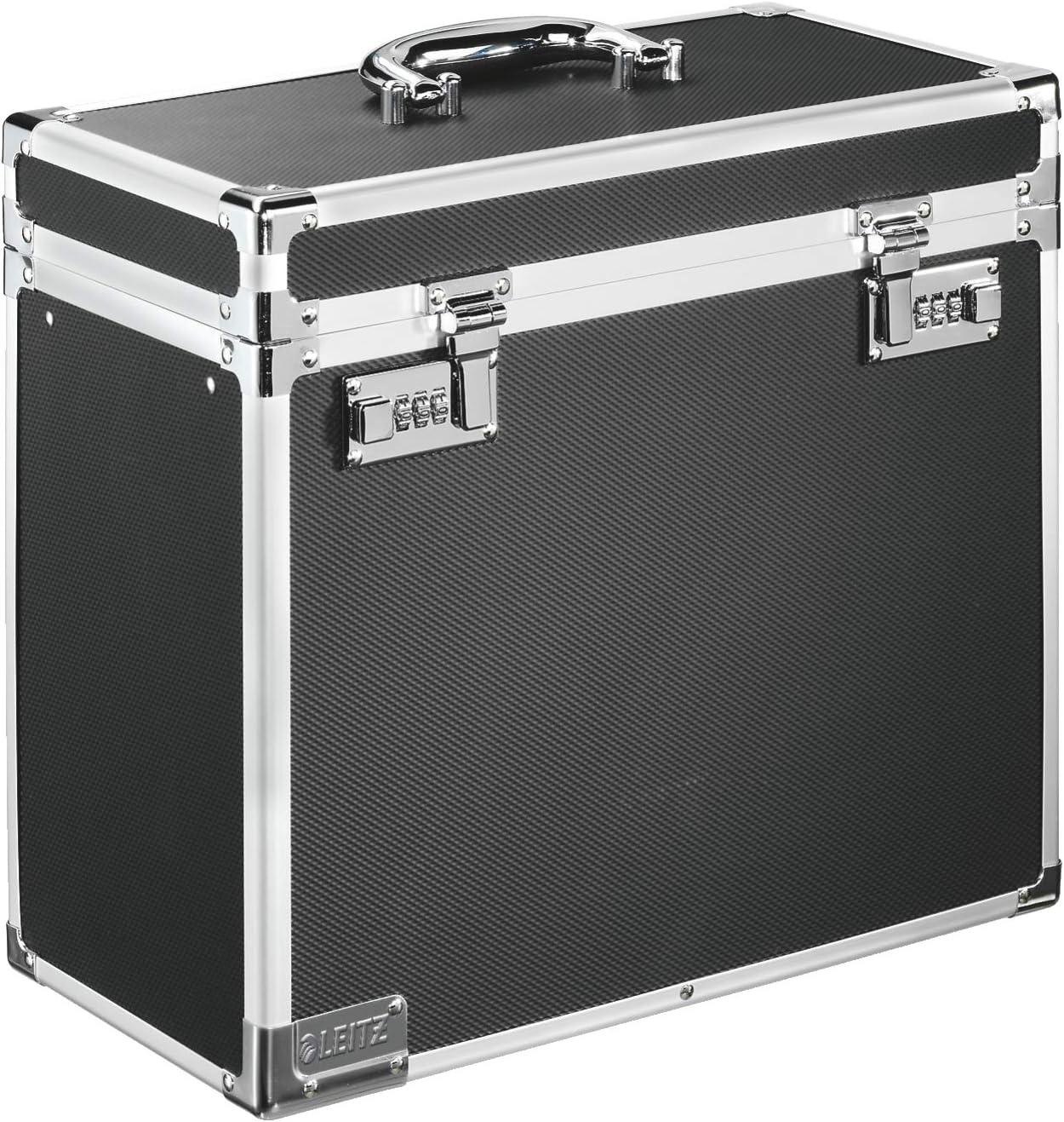 Leitz 67160095 Aluminio, De plástico, Acero, Madera Negro, Cromo caja y organizador para almacenaje de archivos - Organizador de almacenaje (Aluminio, De plástico, Acero, Madera, Negro, Cromo, A4, 2,3