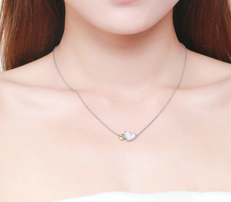 MMC Luminous Heart Valentiness Feature Silver Pendants Necklaces