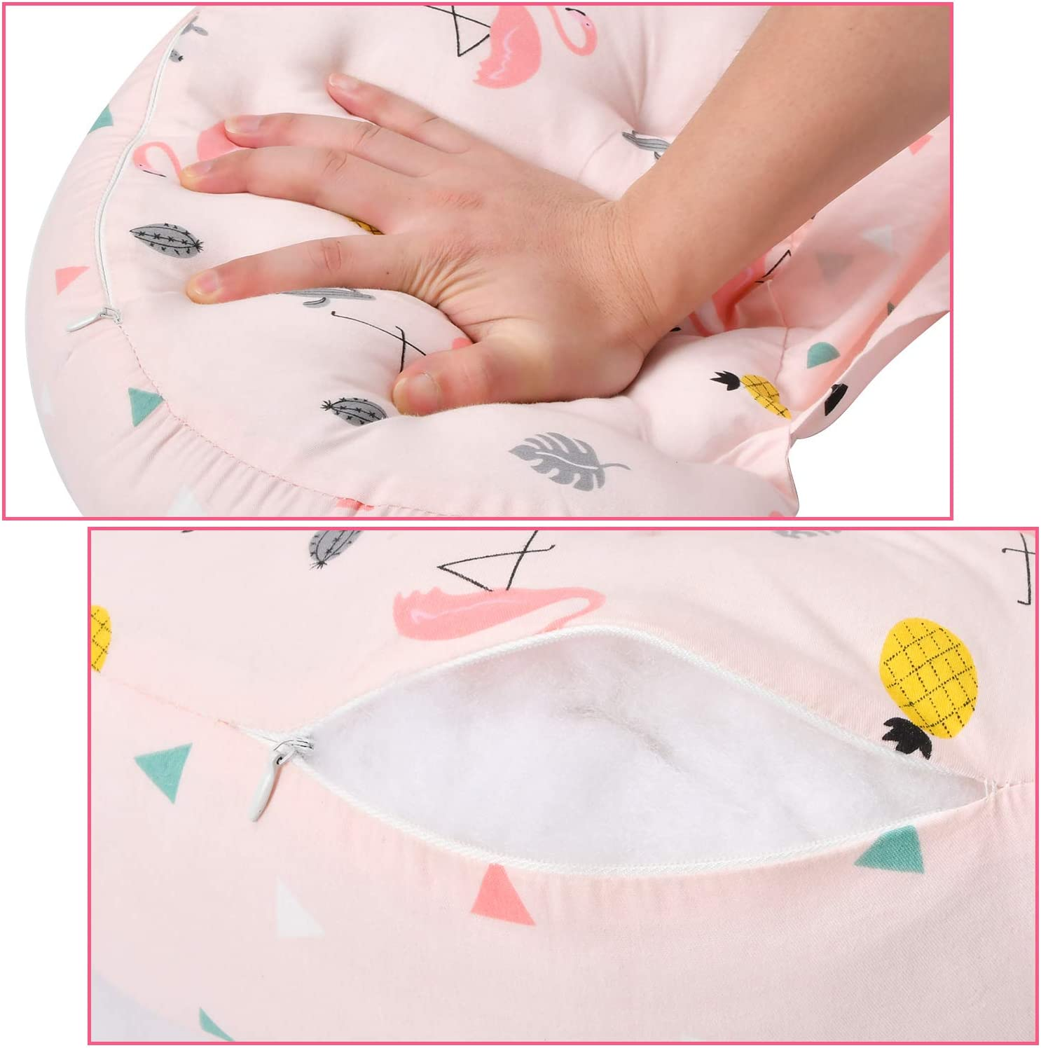 Side Sleeper Maternity Belly Support Pillows Double Wedge for Both Bump and Back Best Pregnant Mom Gift AIFUSI Pregnancy Pillow