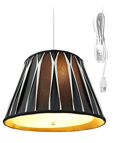 2 light plug in pendant light by home concept hanging swag lamp rh amazon com Swag Lamps with Chain and Plugs in Outlet Vintage Swag Lamps