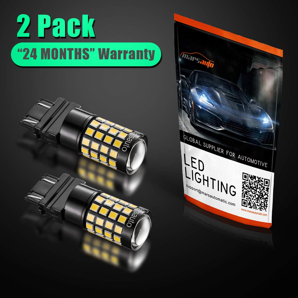 Set of 2 921 912 LED Reverse Backup Bulb Extremely Bright, 2018 UPGRADED Marsauto T15 3030//2835 Chipsets Back up Stop Tail Light Lamp Bulbs Replacement