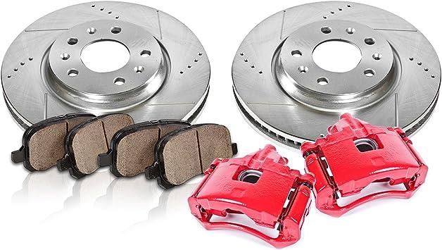 1997-2005 Venture Silhouette Montana FWD Front Brake Drill Rotors Ceramic Pads