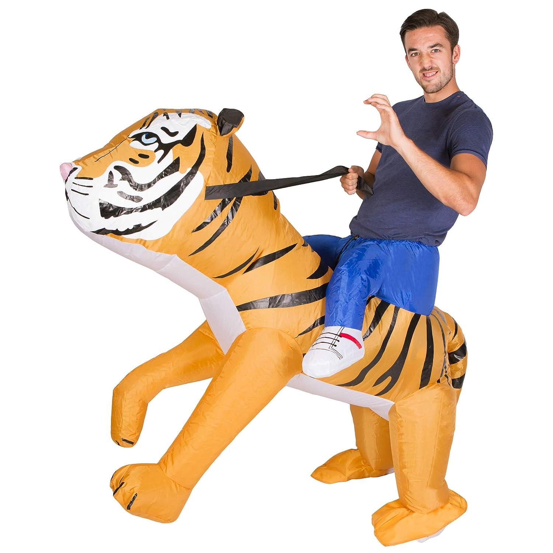Bodysocks® Disfraz Hinchable de Tigre Adulto: Amazon.es: Juguetes ...