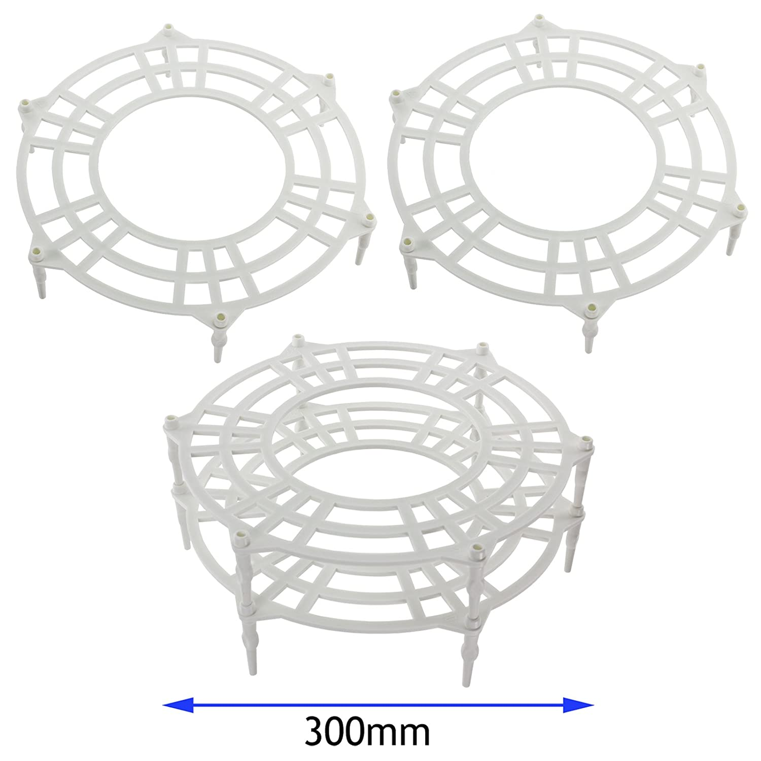SPARES2GO 300mm Single + Double Tier Plate Stand Racks for LG Microwave Ovens (Pack of 2)