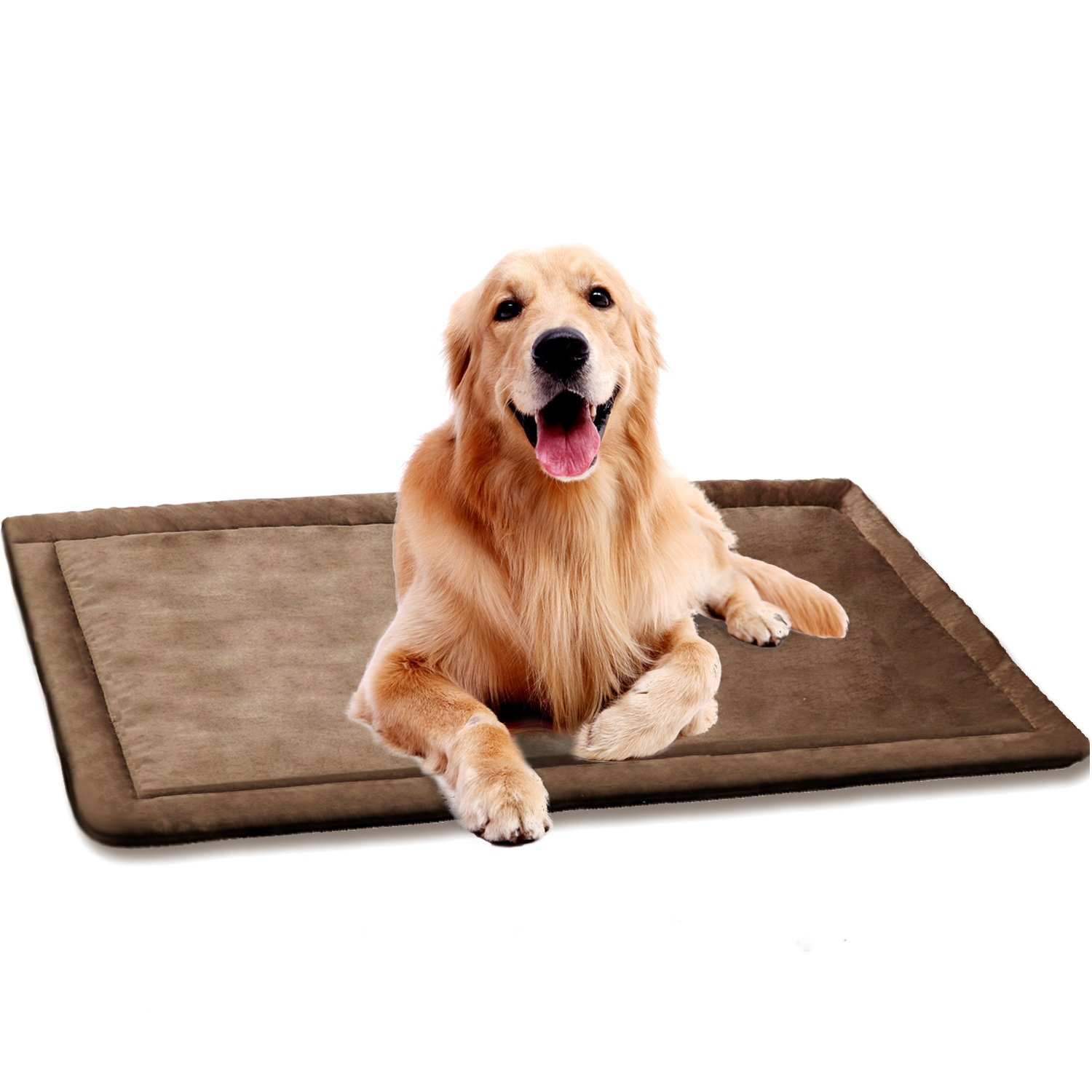 SHU UFANRO Dog Cushion Cover Dog Bed for Crate Dog Kennel Mat Pet Bed Mattress Washable Pad for Pet Cat 40'' x 27''