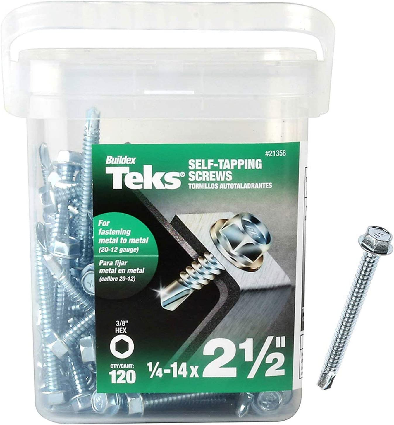 1//2-13 Thread Size 2 Length 1//2-13 Thread Size 2 Length Small Parts 5032FWS Steel Thread Cutting Screw Type F Zinc Plated Finish Serrated Hex Washer Head