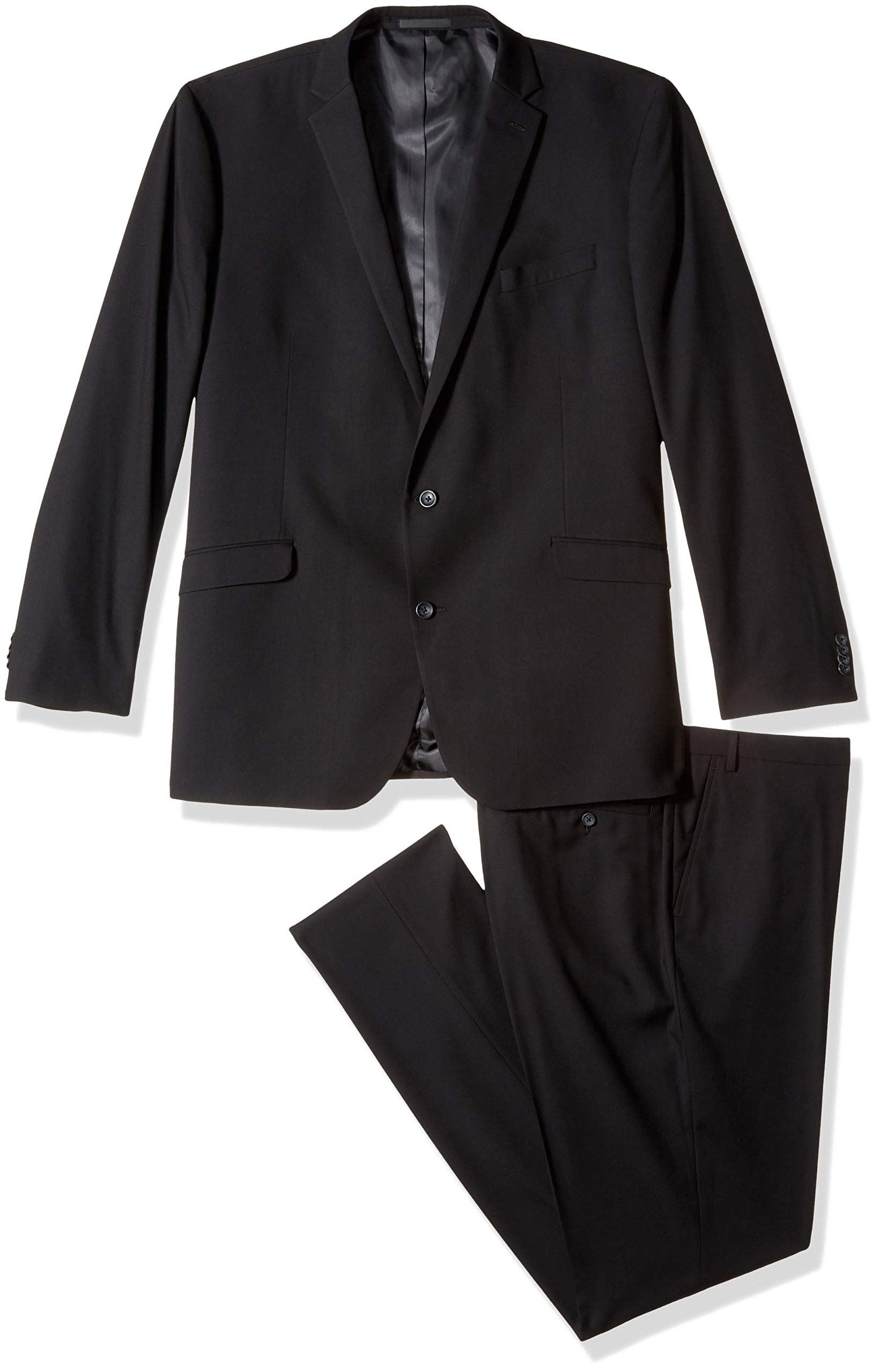 Kenneth Cole REACTION Men's Big and Tall Big & Tall Performance Stretch Suit, Black, 60 Long
