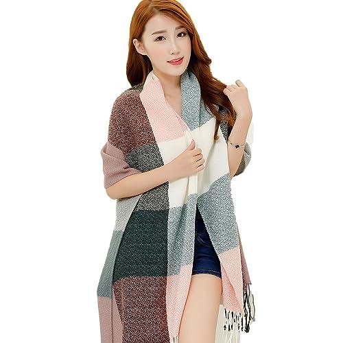 Bufanda para Mujer, Youson Girl® Bufanda de Invierno Enrejado Grande Bufanda Mujer Colorida Bufanda