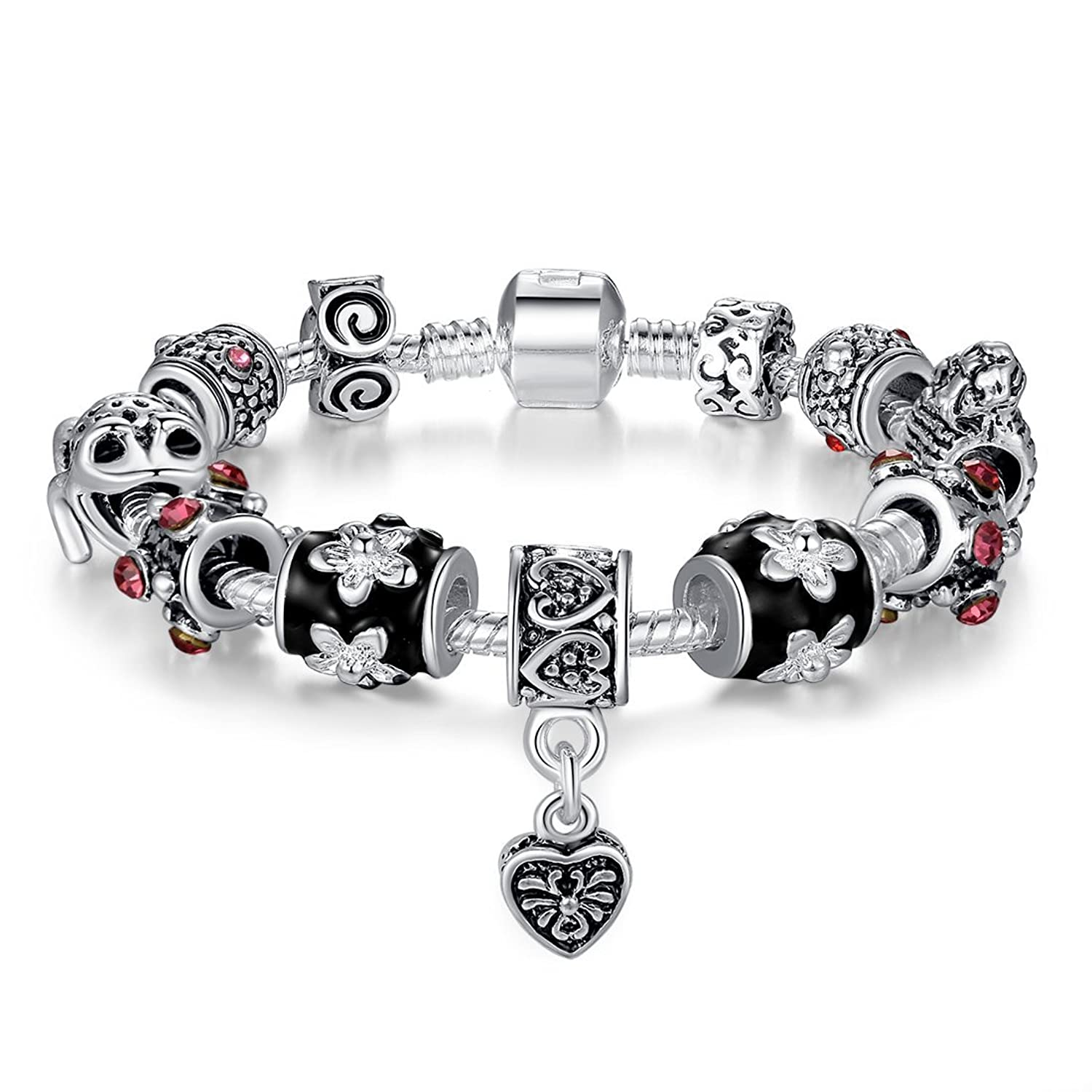 Carina Sterling Silver Pandora Collection Charms Bracelet for