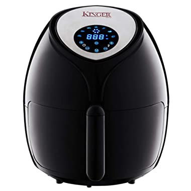 Kinger Home Air Fryer XL 5.8 QT 8-in-1 Touch Screen Hot Large Electric Air Fryer Oven Oilless Cooker with Recipes Cookbook