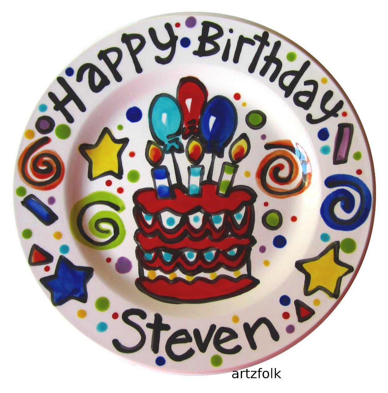 Enjoyable Amazon Com 7 Handmade Custom Ceramic Personalized Happy Birthday Birthday Cards Printable Trancafe Filternl