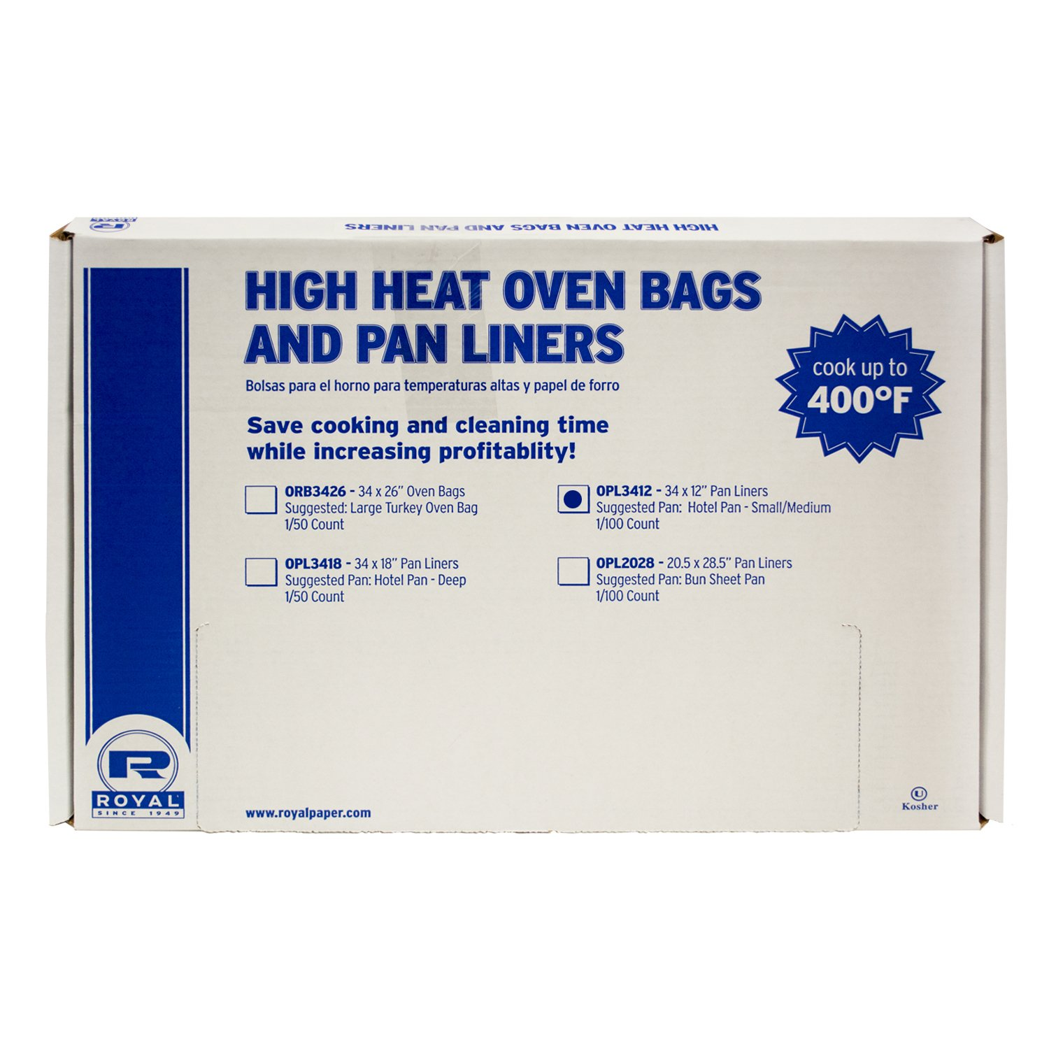 Amazon.com: Royal Shallow, Full Pan High Heat Oven Pan Liner, 34