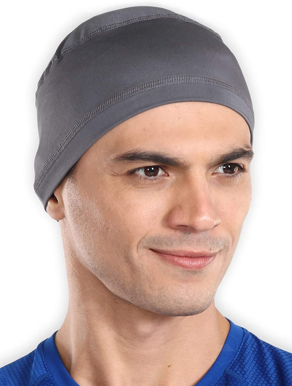 Tough Headwear Sweat Wicking Helmet Liner/Cooling Skull Cap for Men - Helmet & Hard Hat Liner Accessory - UPF 50 Sun Protection