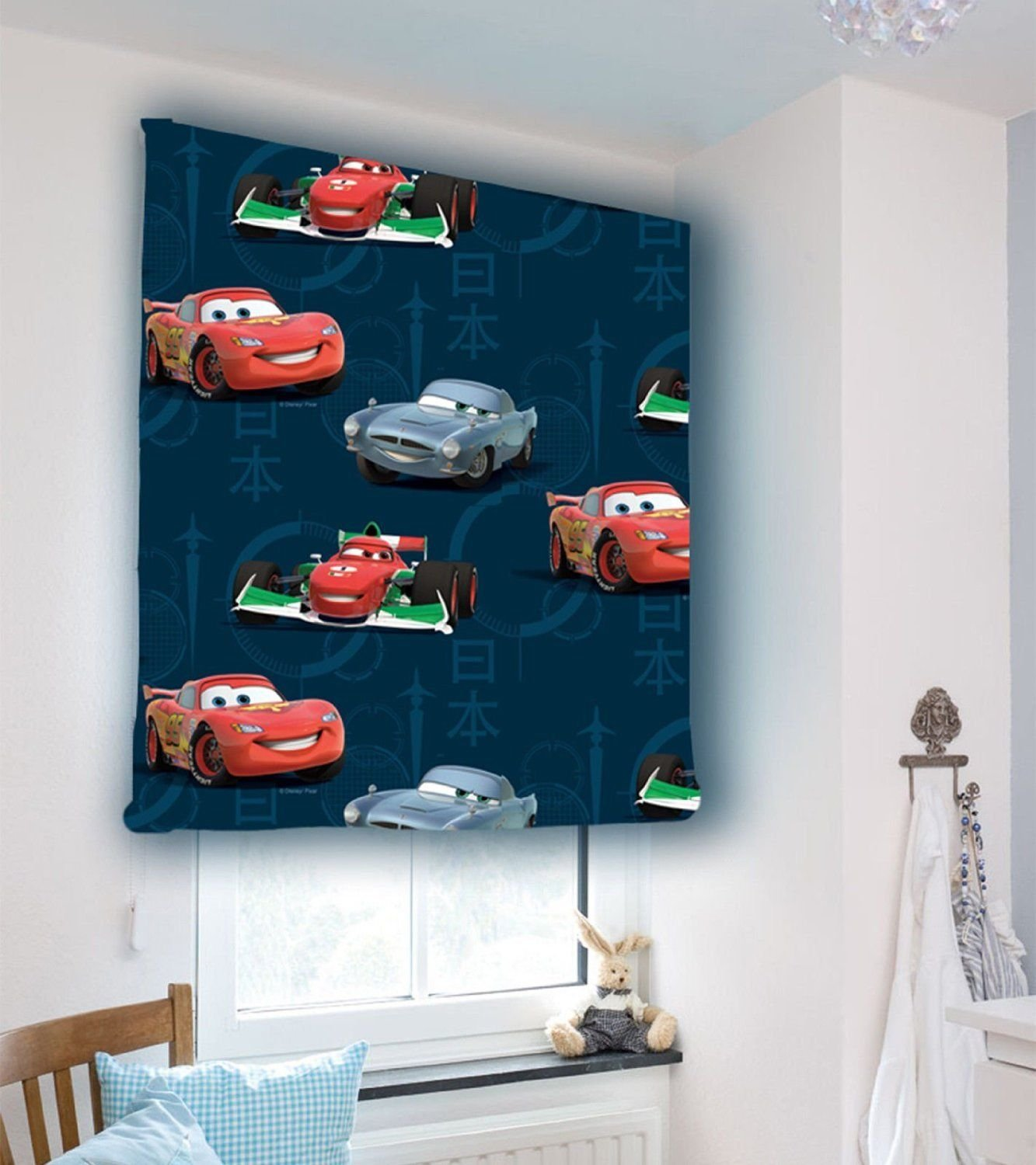 Childrens Bedroom Playroom Disney Pixar Cars Window Blackout