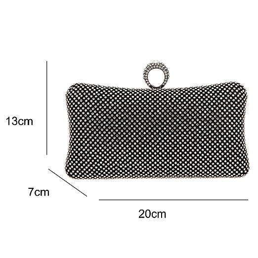 Bonjanvye Bling Ring Clutch Purse for Women Rhinestone Clutch Evening Bag Black: Amazon.es: Equipaje