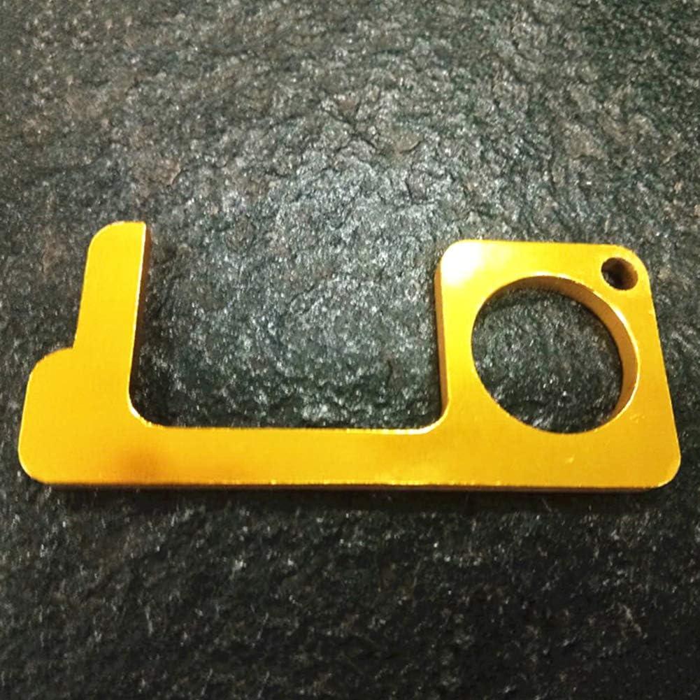 Healthy Simple Hygiene Hand Brass Door Opener /& Stylus Environmental Protection Famyfamy EDC Door Opener,Portable Stick for Push The Elevator Button Open