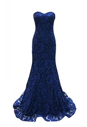 Miss Chics Long Prom Dresses Embroidered Evening Gowns for Womens 2017 Size 6 Navy