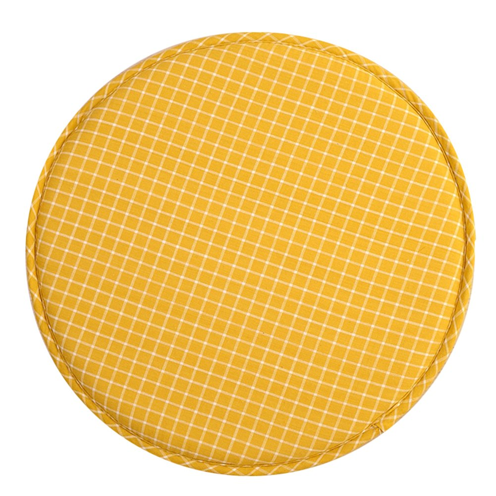 jannyshop Round Seat Cushion Dining Room Garden Kitchen Office Ttami Chair Pad Soft Padded Mat with Ties Dia 33cm Random Color