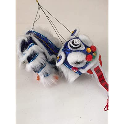 My Lucky Chinese New Year Lion Dragon Dance Puppet Blue: Home & Kitchen