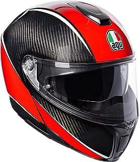 AGV Sports Modular Aero Carbon/Rojo Motocicleta Casco