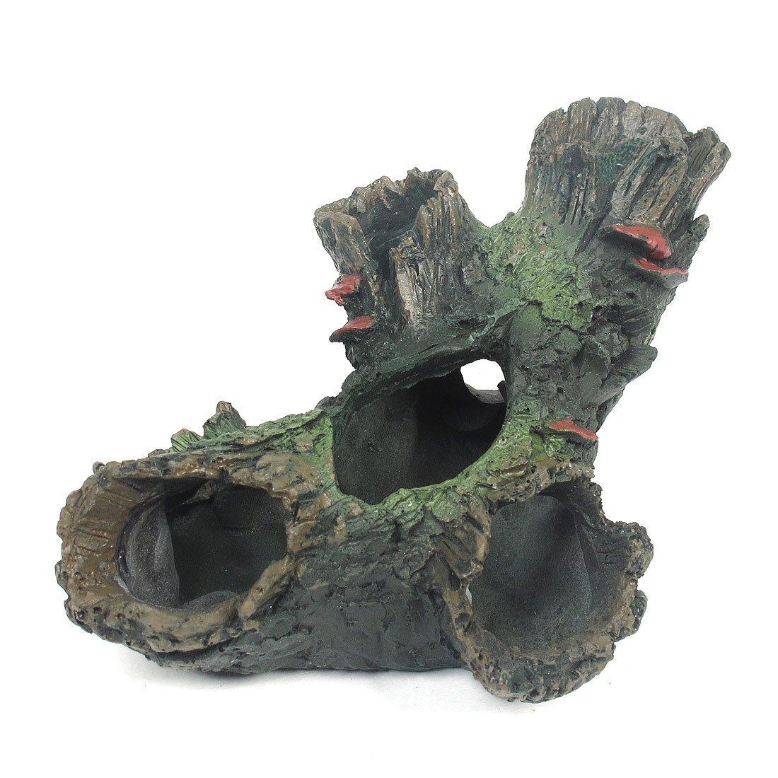 Racines pourries - SODIAL(R)Resine d¡¯aquarium artificielles racines pourries, 2,4 pouces hauteur, noir/vert 061795