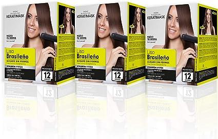 Be Natural Kit de Alisado Brasileño con Keratina, Blanco, 3 Unidad