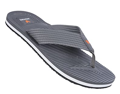 eecf67e7f38382 Vestire Men s Grey Synthetic Leather Flip Flops - 10 UK  Buy Online ...