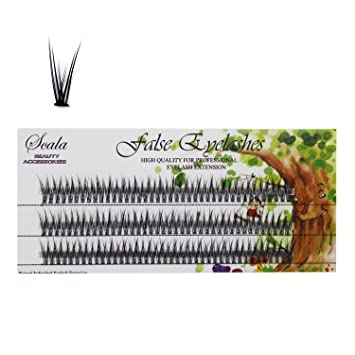 1a2acafbe82 Amazon.com : Scala 60pcs Thickness 0.10mm C Curl 10 Roots/Cluster Fake  Lashes Mink Individual Flare False Eyelashes (0.10-C-12mm) : Beauty